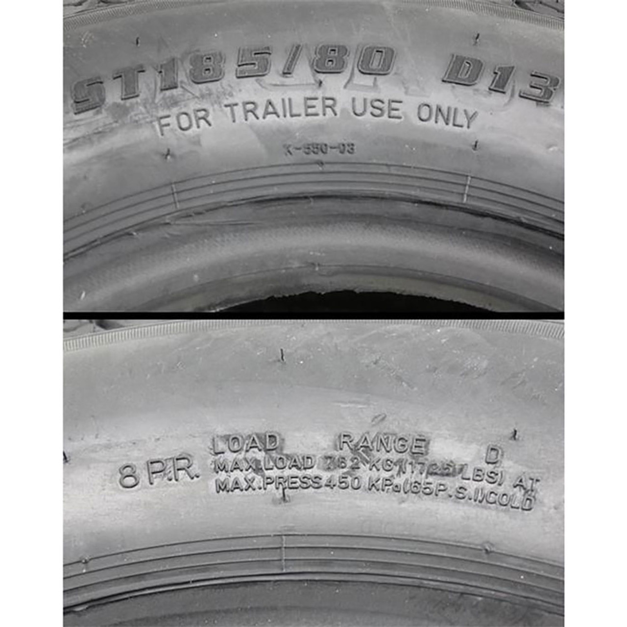 ST185/80D13 Load Range D Bias Ply Trailer Tire - Kenda Loadstar
