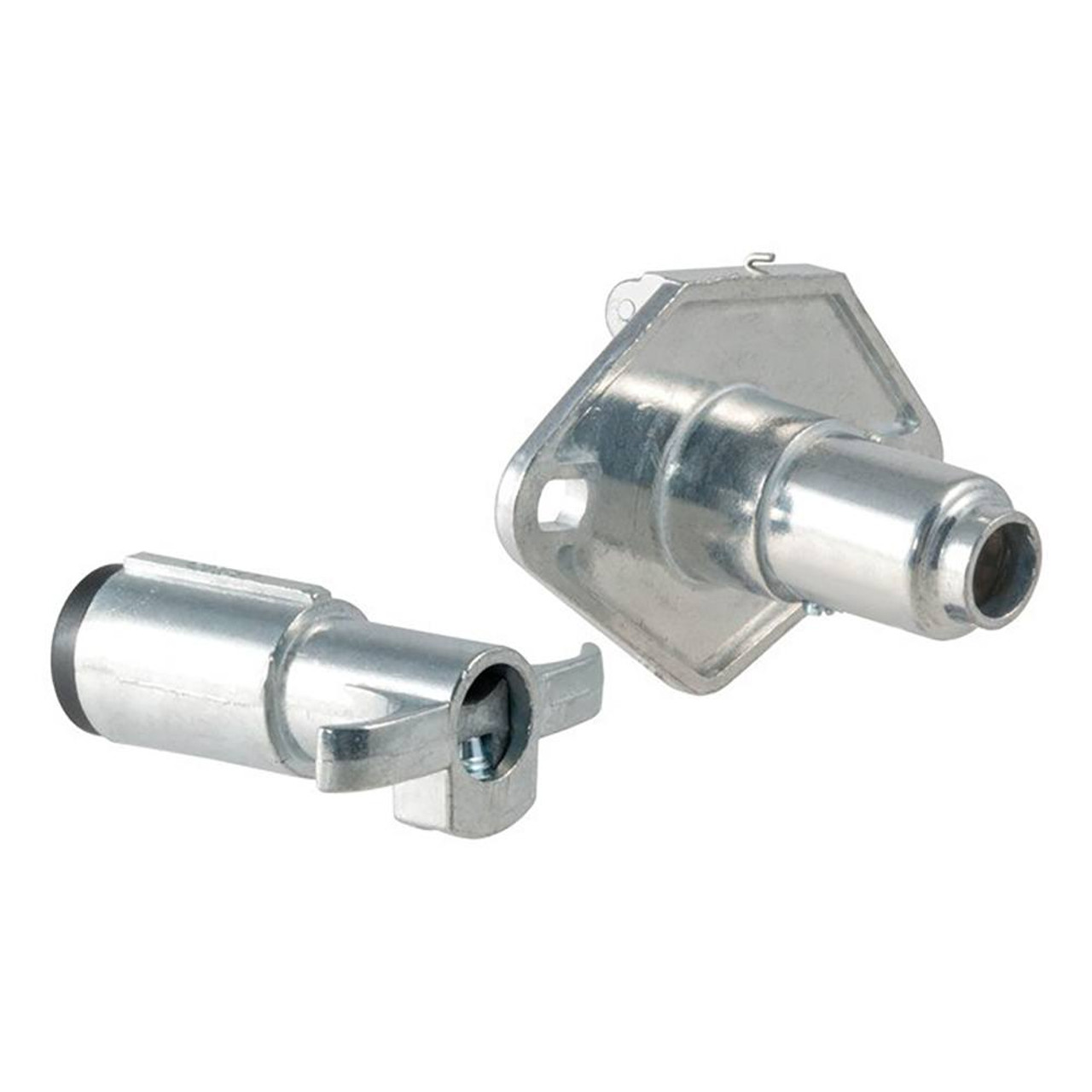 6-Way Round Connector- Die Cast- Car And Trailer End- Incl. Bracket-