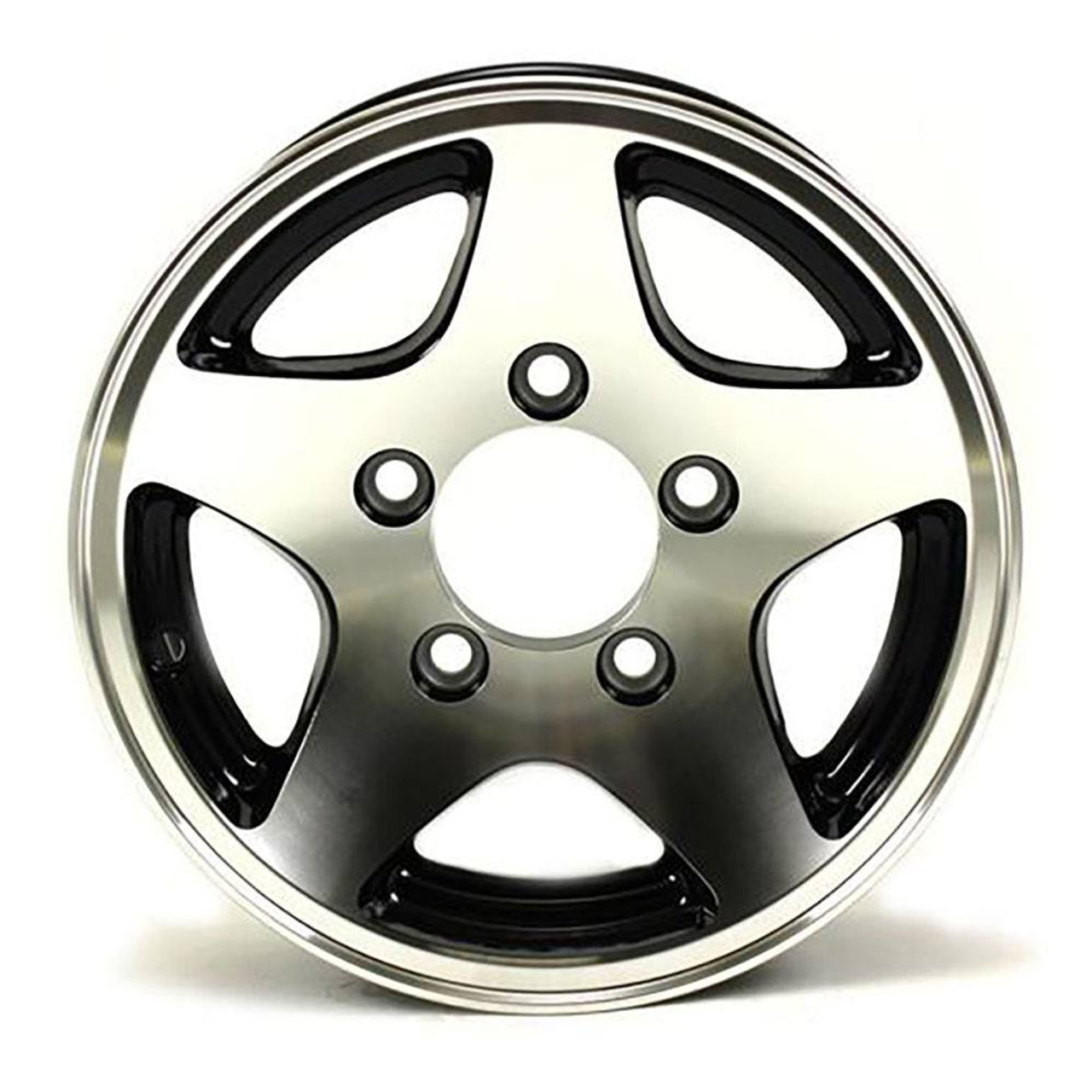 "12X4 5-Lug on 4.5"" Aluminum 5-Star Trailer Wheel - 424545B"