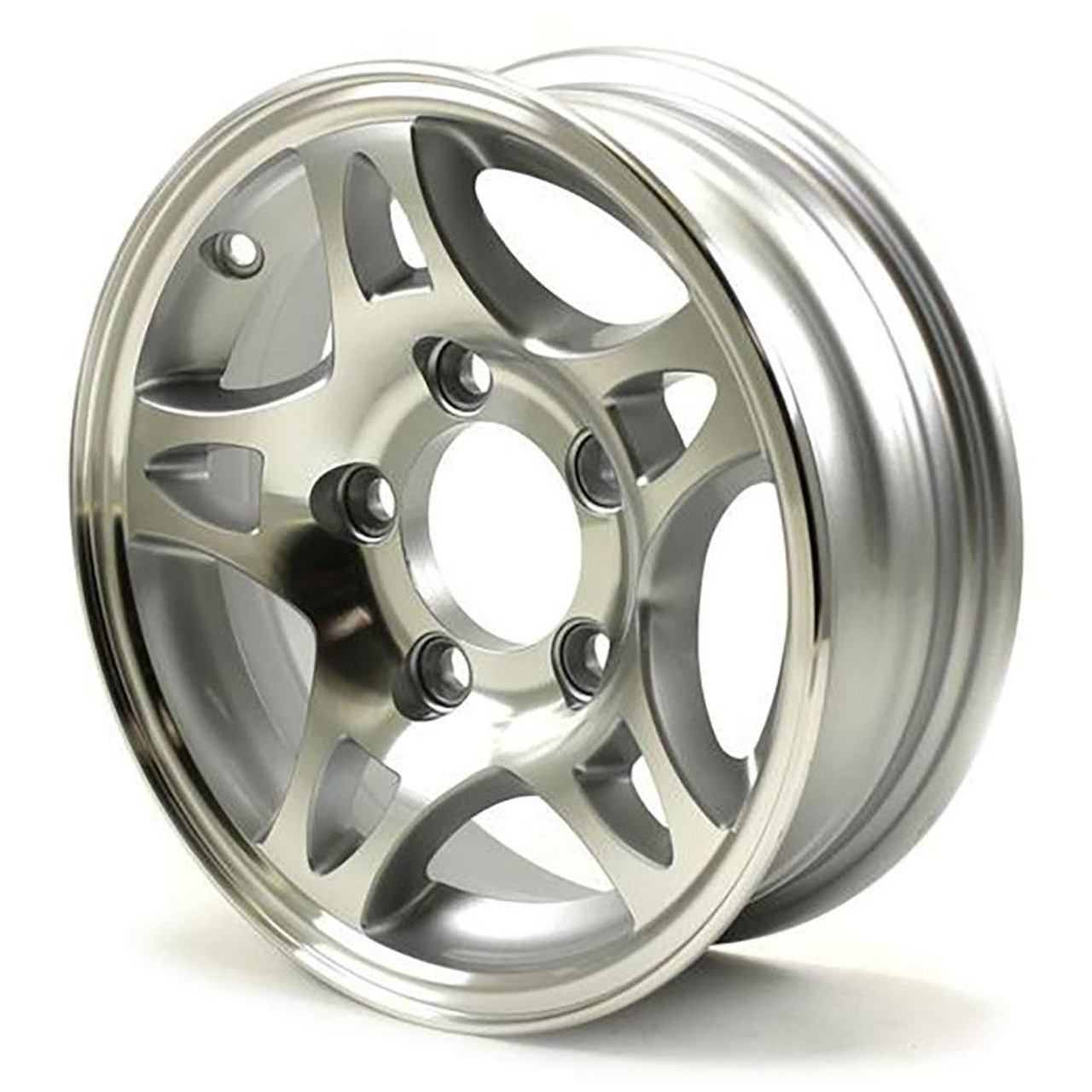 "12X4 5-Lug on 4.5"" Aluminum S5 Trailer Wheel - S524545"