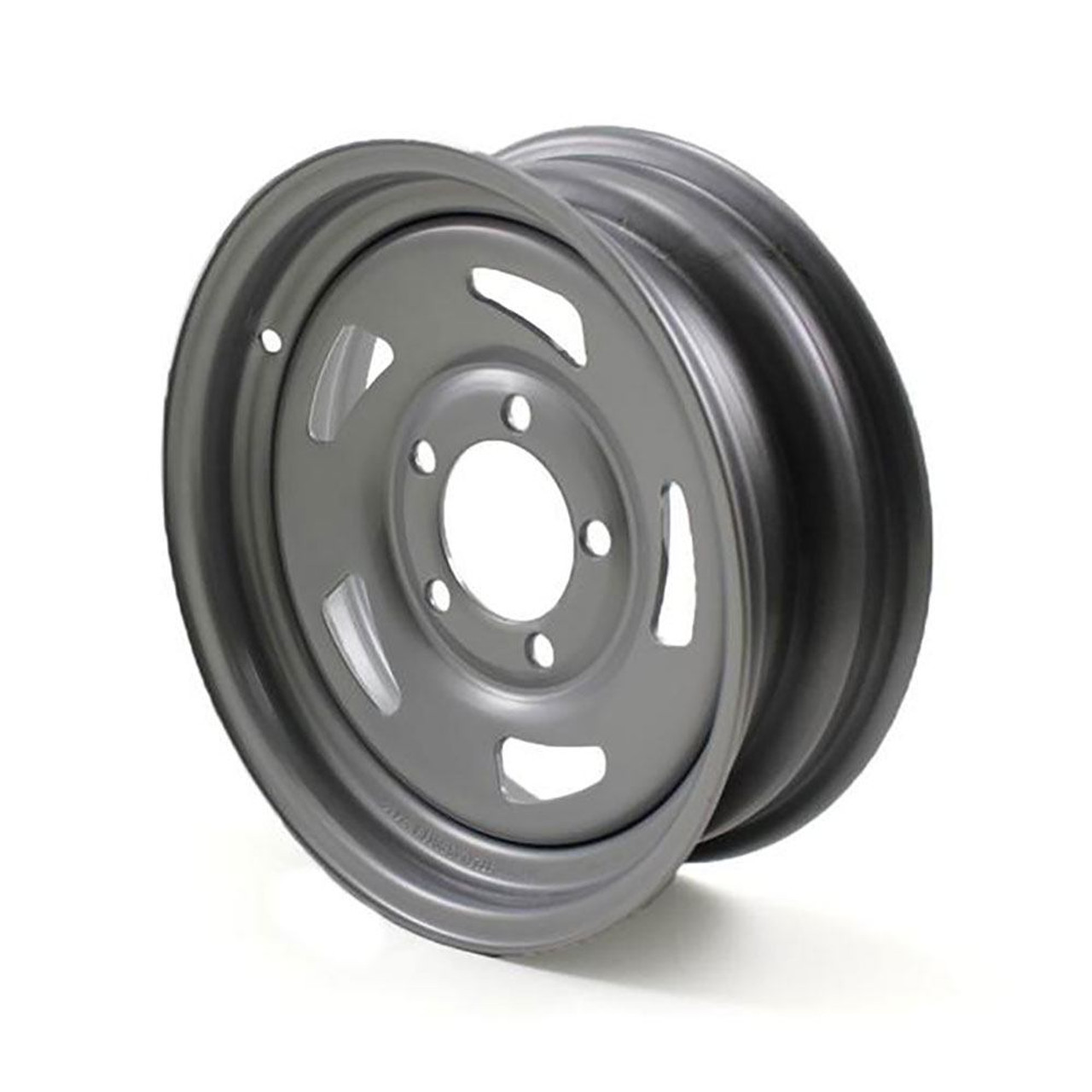 "13X4.5 5-Lug on 4.5"" Silver Blade Trailer Wheel"