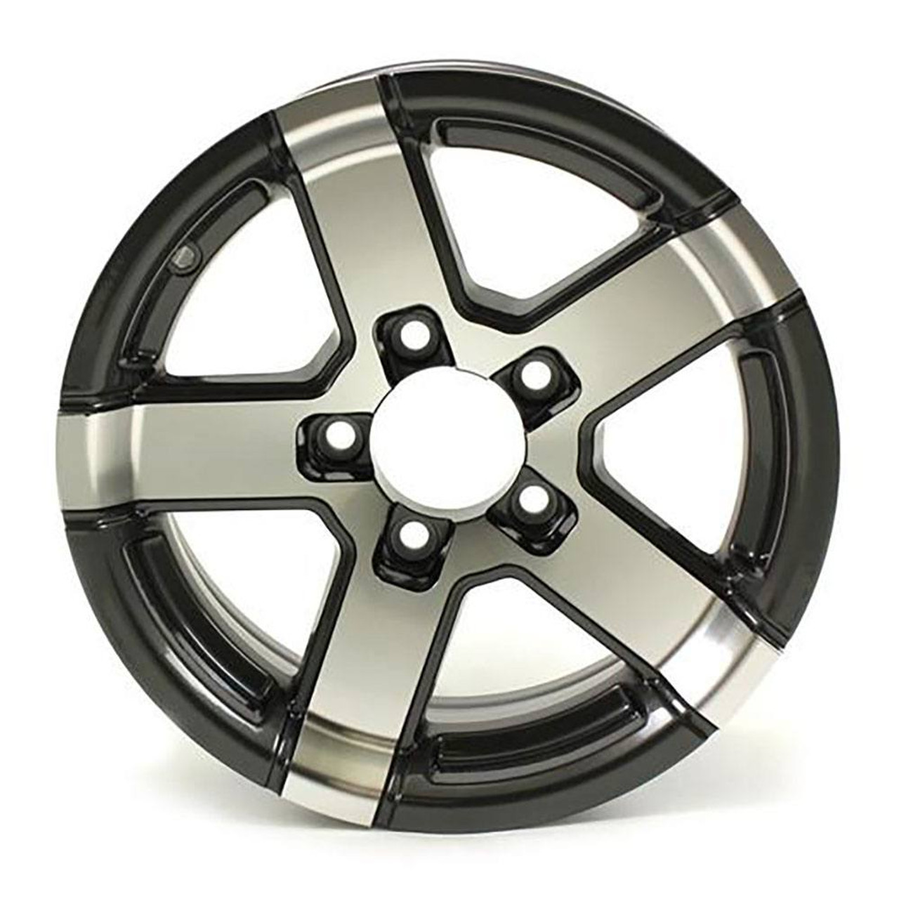 "14X5.5 5-Lug on 4.5"" Aluminum Series 07 Trailer Wheel - Gray Accent - 745545G"