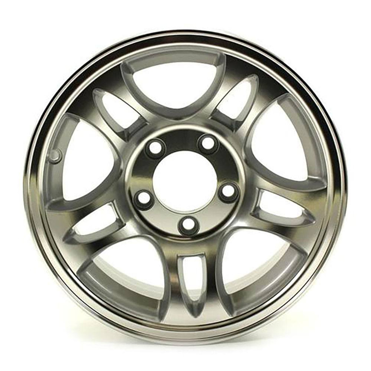 "14X5.5 5-Lug on 4.5"" Aluminum T03 Trailer Wheel - T03-45545T"
