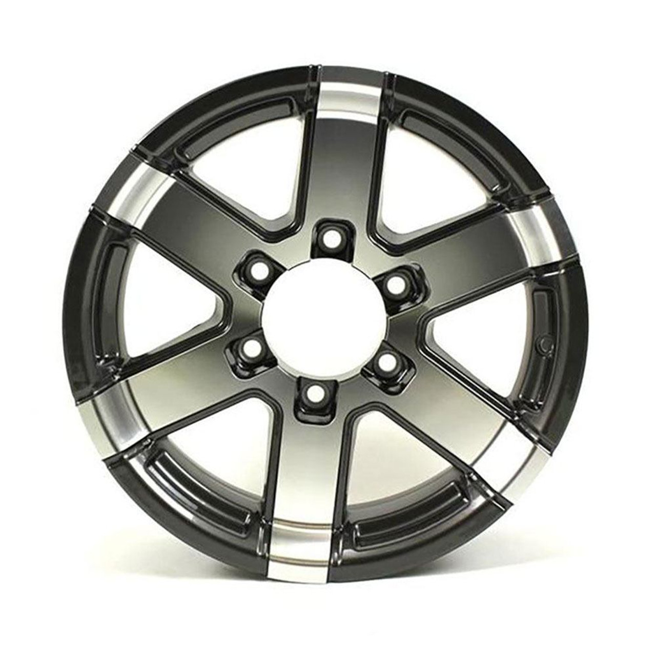 "16X6 6-Lug on 5.5"" Aluminum Series 07 Trailer Wheel - Gray Accent - 766655G"
