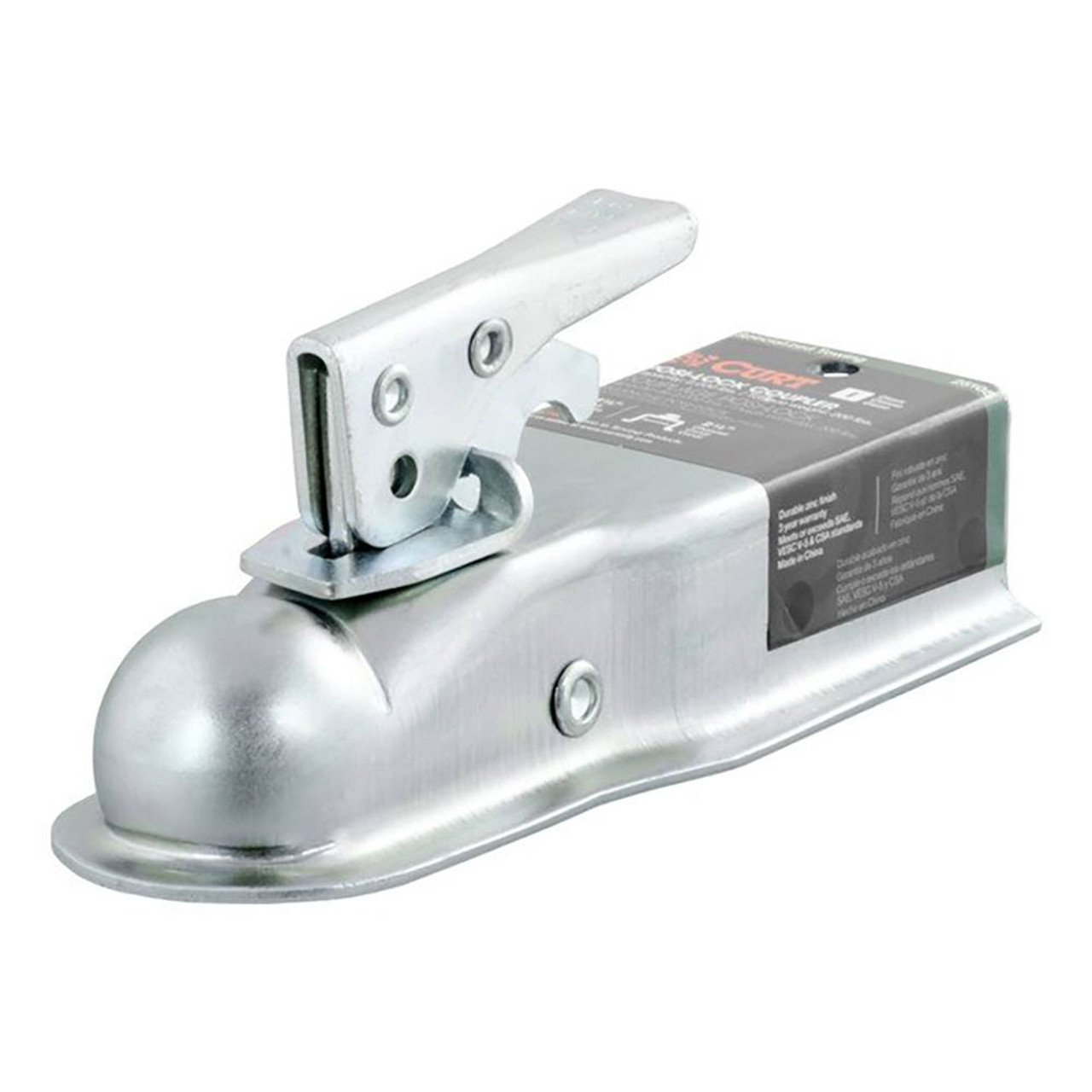 Class I- Posi-Lock Coupler- Zinc Finish- 2000lbs. Gross Trailer Weight- 200lbs. Tongue Weight- 1.7/8 in. Ball- 2.5 in. Channel-
