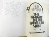 The Knight in the Panther's Skin, Unique Metal and Rhinestone Binding