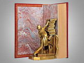The Fountainhead by Ayn Rand, First Edition, 1943, Full Leather Custom Binding