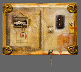 Euclid by Raymond Papka, Unique Altered Book Sculpture