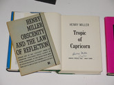 The Henry Miller Trilogy, Signed First Editions, Unique Sculpture by Rick Tuttle