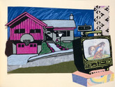 The Utah Reader, Original Linocuts and Hand Painted Collages by Mark Beard