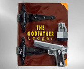 Steve Kaufman, The Godfather Ledger, Hand-Painted Acrylic Book Sculpture