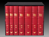 The Harry Potter Collection, 7 Volumes, Full Red Leather Custom Bindings
