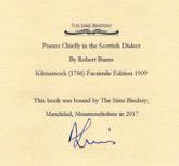 "Poems by Robert Burns, Custom Scottish ""Wheel Binding"" by Andrew Sims"
