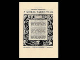 A Moral Fable-Talk, Illustrated by Marcus Gheeraerts , Arion Press, 378 of 400