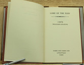 Lord of the Flies by William Golding, First Edition, Custom Sims Binding