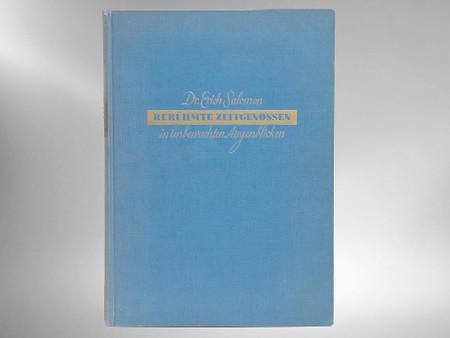 Beruhmte Zeitgenossen by Erich Salomon, First Edition, 1931