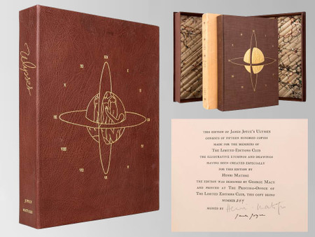 Ulysses Signed by James Joyce and Henri Matisse, 1935, Limited Edition Club