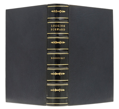 Looking Forward by Franklin Delano Roosevelt, First Edition, Custom Binding
