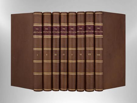 The Spectator, 1760, Eight Volumes, Signed Custom Harcourt Bindings