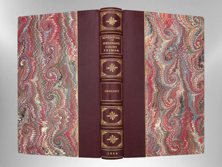 The Adventures of Count Fathom by Smollett, 1884, Custom Harcourt Binding