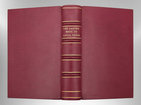 The Oxford Book of Latin Verse, Signed Custom Harcourt Binding