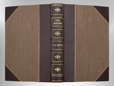 The Affair by C.P. Snow, First Edition, Signed Custom Harcourt Binding
