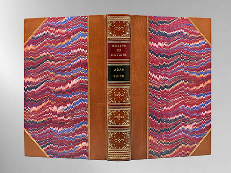 The Wealth of Nations by Adam Smith, 1884, Custom Sims Binding