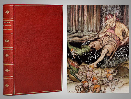 The Arthur Rackham Fairy Book, 1933, First Edition, Full Leather Custom Binding