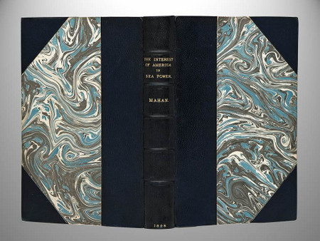 The Interest of America in Sea Power by Alfred Mahan, Custom Leather Binding