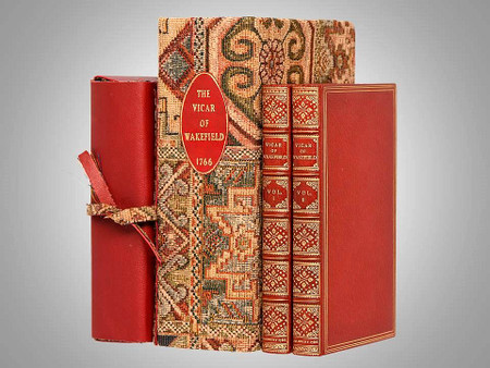The Vicar of Wakefield by Oliver Goldsmith, 1766, 1st Edition, Bindings by Riviere & Son