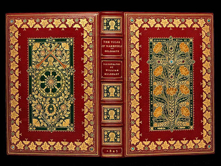 The Vicar of Wakefield by Oliver Goldsmith, Jeweled Binding by Sangorski & Sutcliffe
