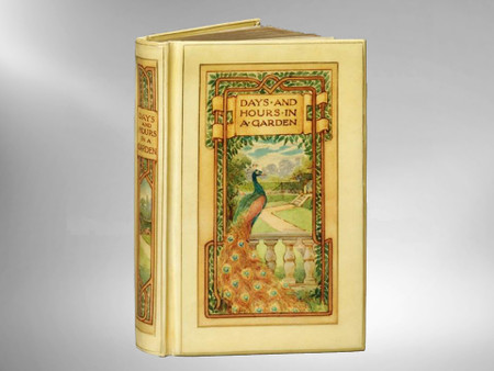 """Days and Hours in a Garden, 1887, Signed """"Vellucent"""" Chivers Binding"""