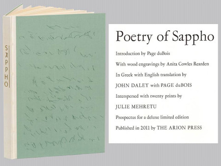 Poetry of Sappho, Art by Julie Mehretu, Arion Press Signed Limited Edition, 22 of 400