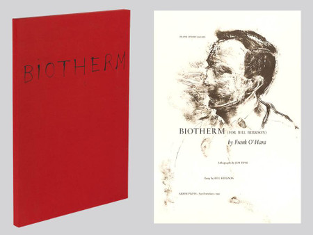Biotherm by Frank O'Hara, Art by Jim Dine, Arion Press, Signed Limited Edition