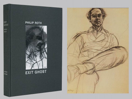 Exit Ghost by Philip Roth, Art by R. B. Kitaj, Arion Press Limited Edition, 68 of 275