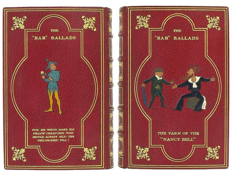 The Bab Ballads by W.S. Gilbert, 1932, Signed Inlaid Riviere Binding