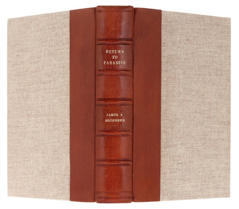Return to Paradise by James A. Michener, 1951, 1st Edition, Custom Binding