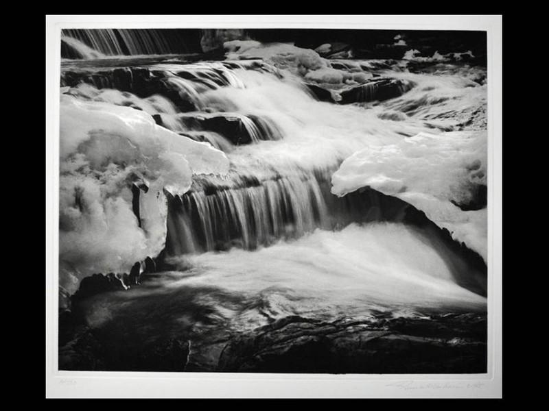 Steven Albahari: Frozen River, 1985, Signed Print