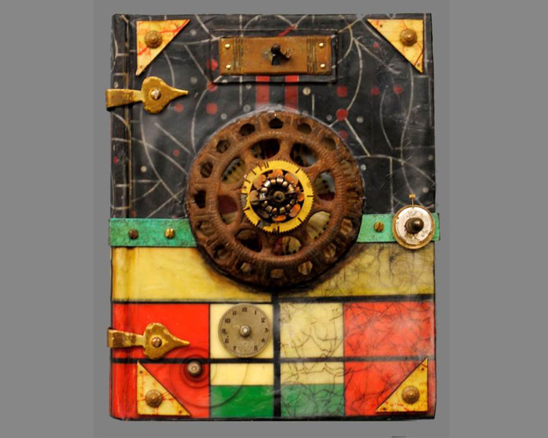 I Saw Eternity the Other Night I by Raymond Papka, Unique Altered Book Sculpture