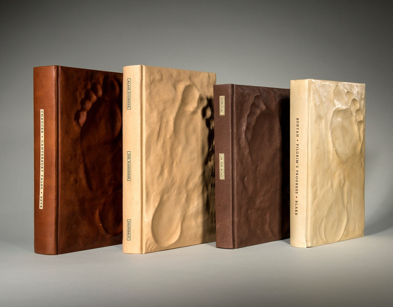 The Pilgrimage Series, 4 Volumes, Unique Bindings by Richard Tuttle