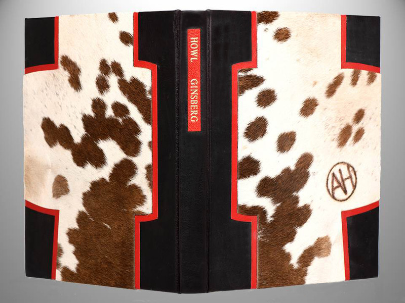 Howl by Allen Ginsberg, Unique Leather Binding by Richard Tuttle