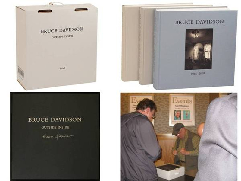 Outside Inside by Bruce Davidson, Signed First Edition, 3 Volumes