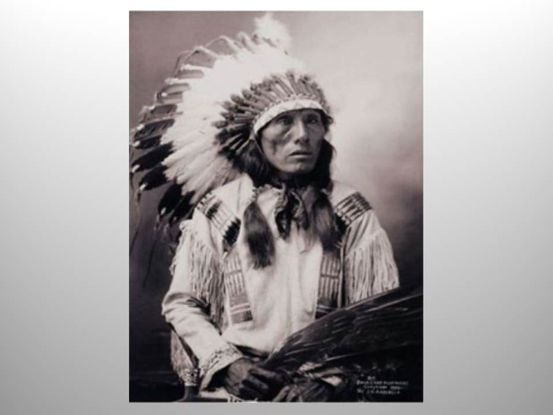 Chief High Horse by J.A. Anderson, Platinum Print, Signed by Stan Klimek