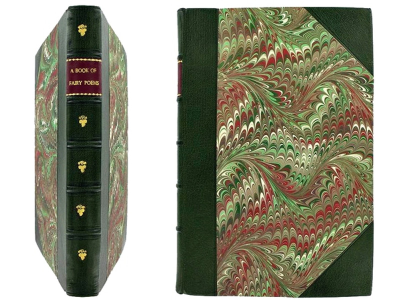 A Book of Fairy Poems by Walter de la Mare, 1922, 1st Edition, Signed Binding