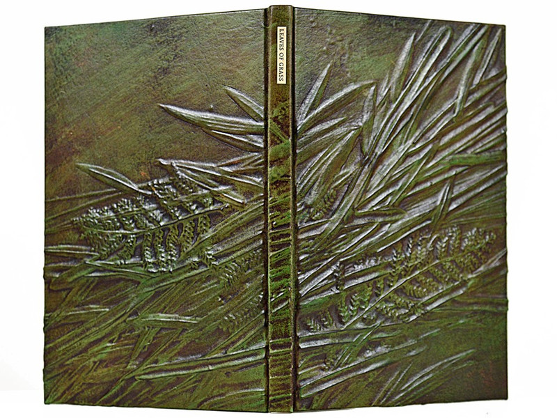 Leaves of Grass, 1855 Facsimile Edition, Unique Fine Binding by Richard Tuttle