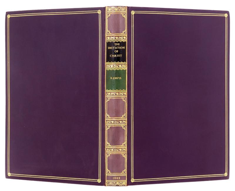 The Imitation of Christ by Thomas Kempis, 1889, Signed Bayntun Binding