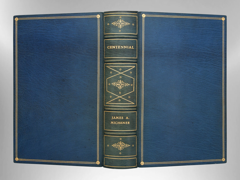Centennial by James A. Michener, 1st Edition, Signed Custom Harcourt Binding