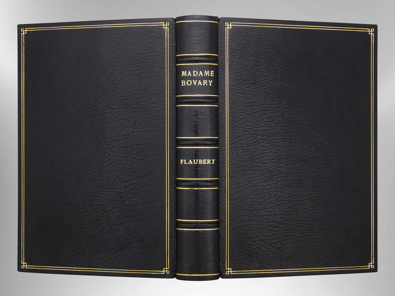 Madame Bovary by Gustave Flaubert, Signed Custom Harcourt Binding