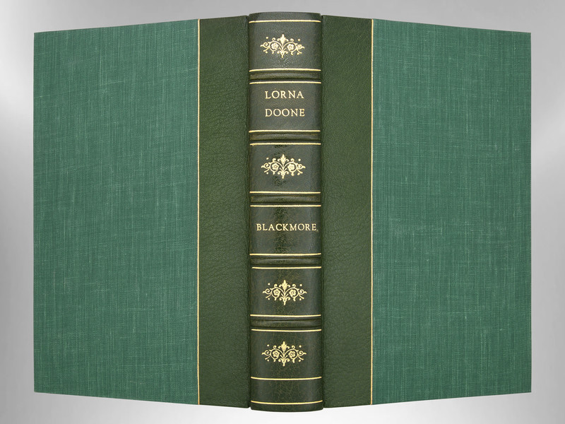 Lorna Doone by R.D. Blackmore, Signed Custom Harcourt Binding
