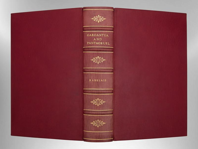 Gargantua and Pantagruel by Rabelais, Signed Custom Harcourt Binding